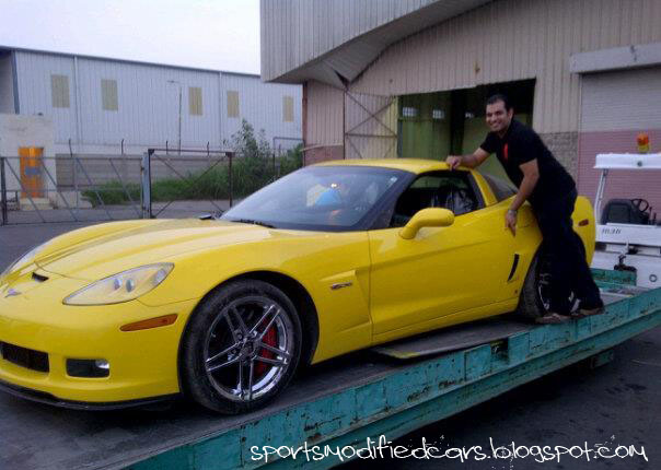 Yellow Corvette Z06 Karachi Sport Cars