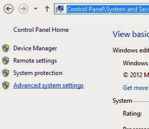 advanced system settings in windows