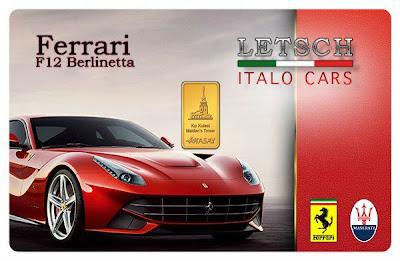 Branding Cards de Karatbars de Ferrari
