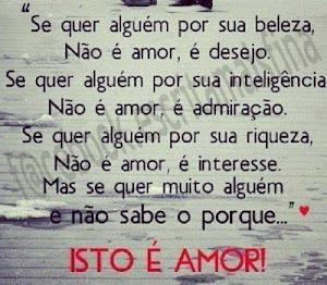 ISTO E AMOR...