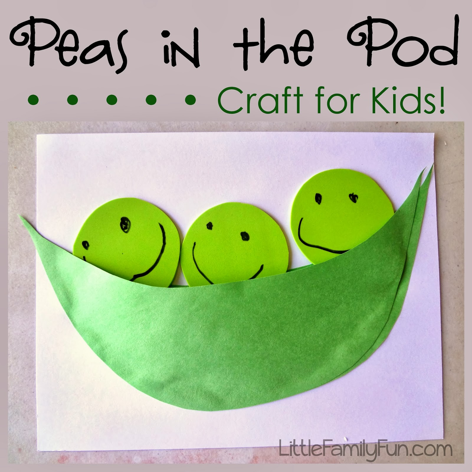 pea pod craft On peas in a pod craft