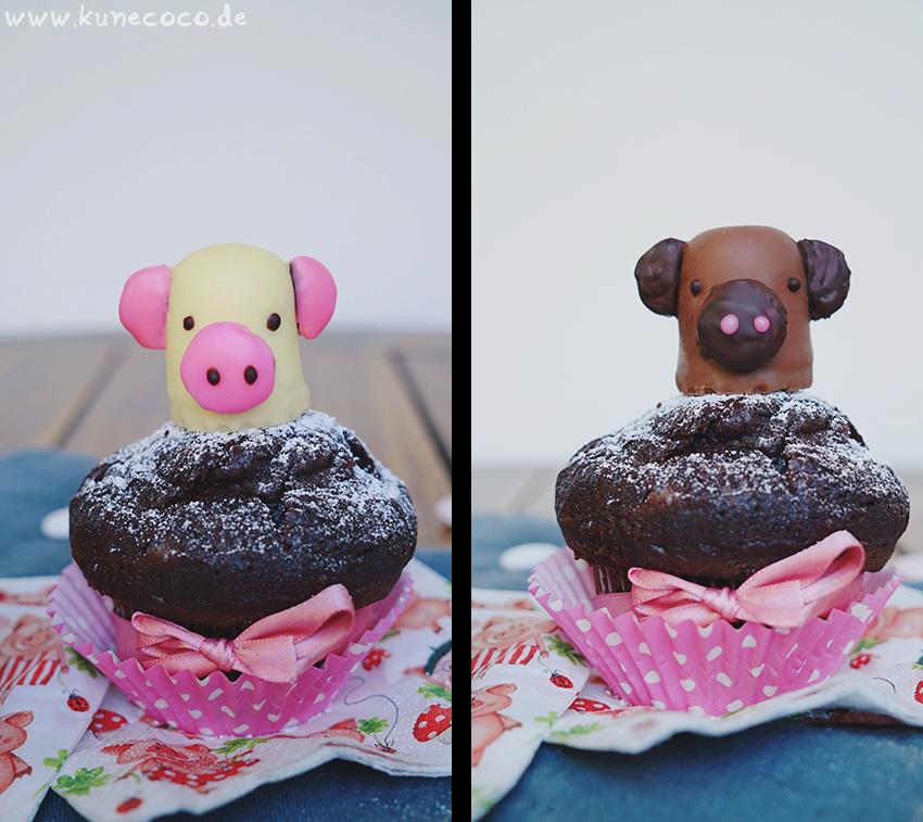 KuneCoco • Schweine Cupcake-Topper