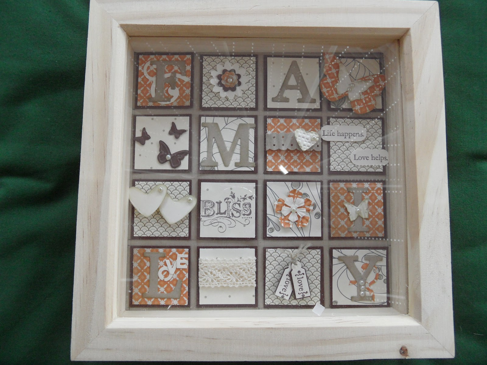 Linda\'s Craft Room: 3D Box Frame Class