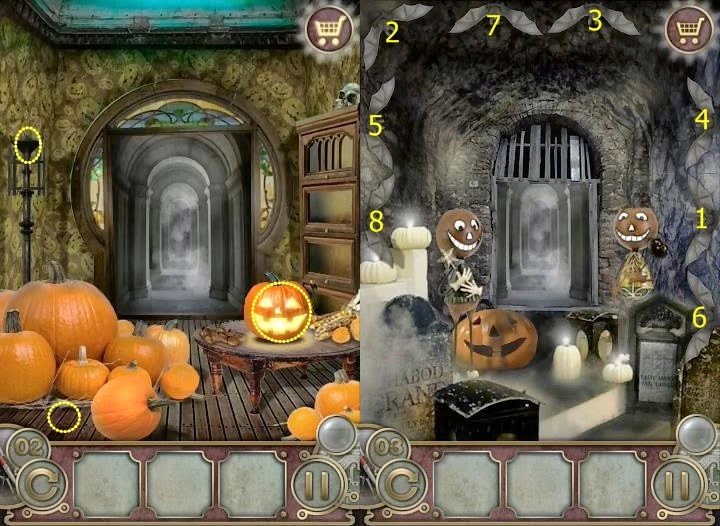 Escape the Mansion Halloween Level 1 2 3 4 5 Solution