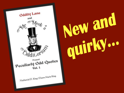 A book for oddity fans...