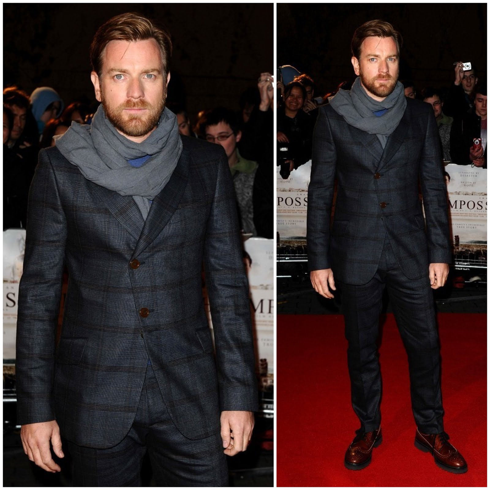 00o00 London Menswear Blog Celebrity Style Ewan McGregor in Vivienne Westwood - The Impossible - UK Charity Premiere