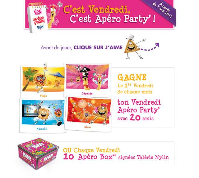 Jeu concours Apéro Party Belin 2012 224 lots à gagner bon plan jeu concours gratuit grand jeu belin