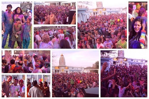 Jagadguru Kripalu Ji Maharaj devotees celebrate Holi 2014 at Radha Madhav Dham