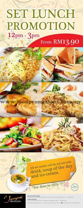 Food street joseph kitchen set lunch promotion for Zaffron kitchen set lunch