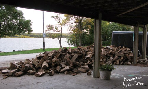 Wood to stack at Freemotion by the River