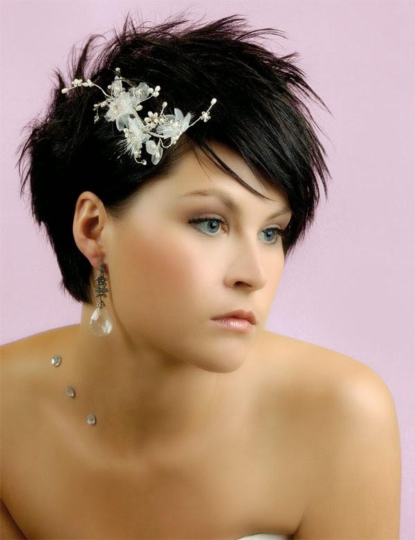 Accessoire mariage cheveux courts