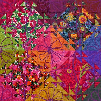 Robin Atkins, Shimmer quilt, tentative quilting design