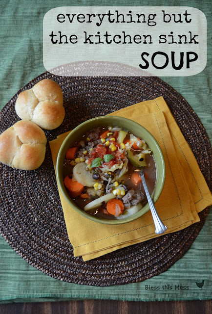 healthy soup recipe, lentil soup with veggies