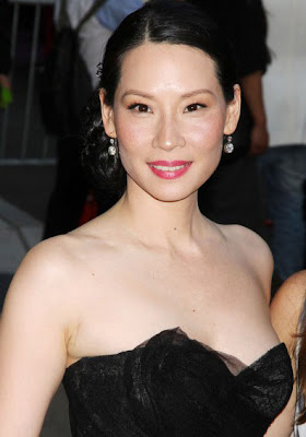 Lucy Liu Dangling Diamond Earrings