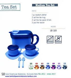 Info & Harga Twin Tulip Tulipware 2014 : Medium Tea Set