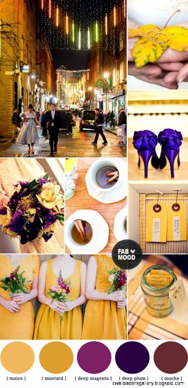 Autumn Wedding Colors purple Autumn wedding color palette