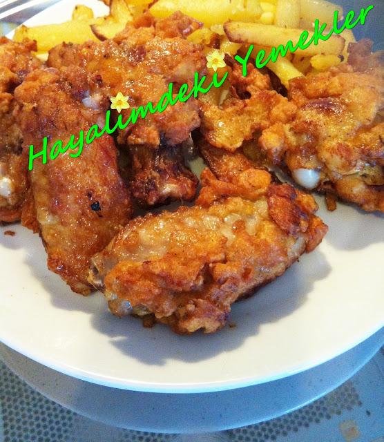 Çıtır Kanat Tarifi,Çıtır tavuk Kanadi nasil yapilir resimli