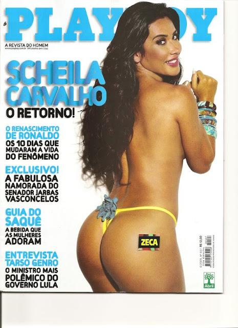 Confira as fotos do retorno de Scheila Carvalho, capa da Playboy de abril de 2009!