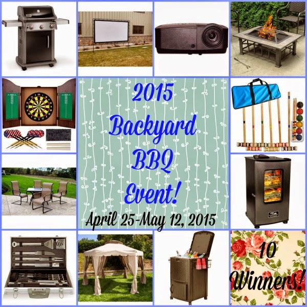 Backyard BBQ Party Blogger Opp. Event starts 4/25.