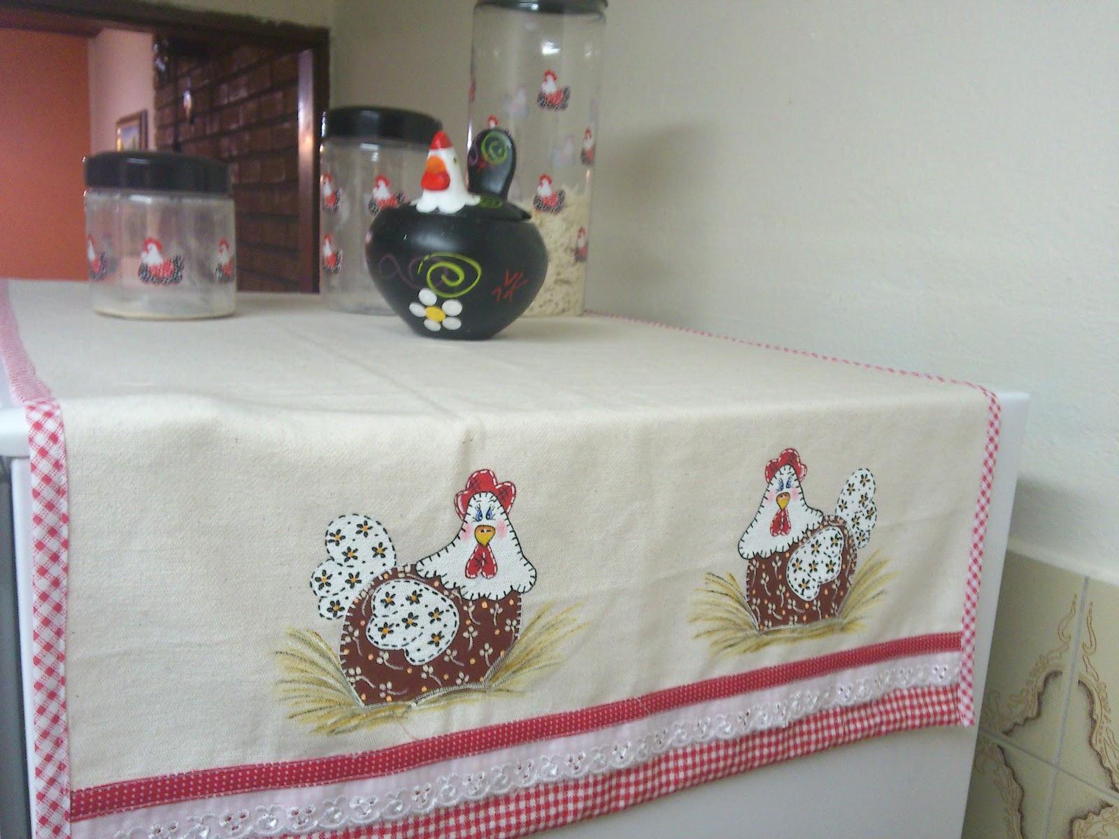 Pimenta Malagueta Artesanatos Kit De Cozinha Galinha Patchwork