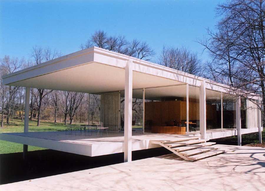 B4vormleer farnsworth house mies van der rohe for Architecture 1950