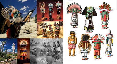 Katchinas-representados-por-los-indios-Hopi