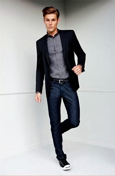 Casual Coat and Jeans Fashion for Men
