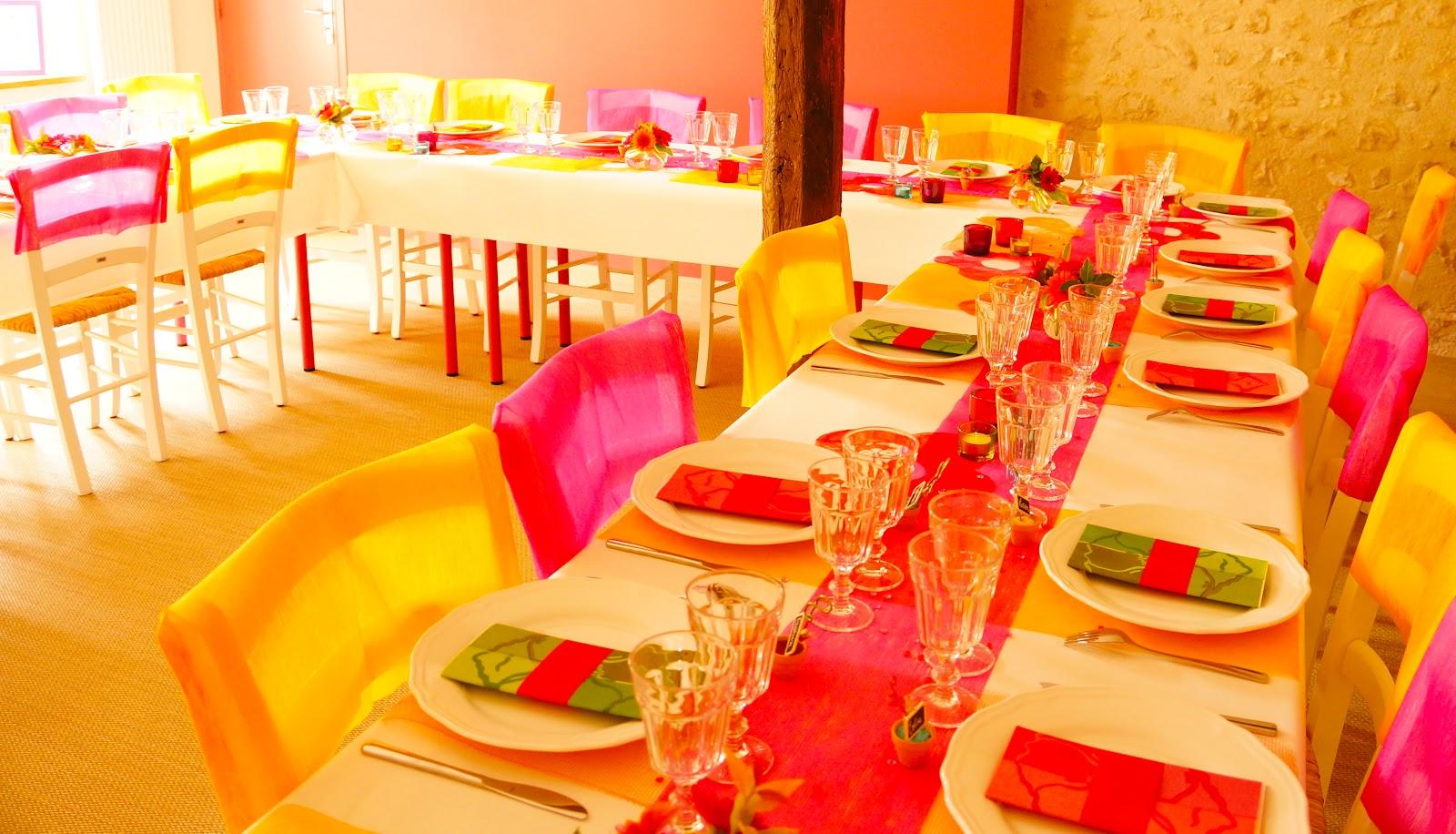 ma boutique déco table - décoration de table: mariage coloré