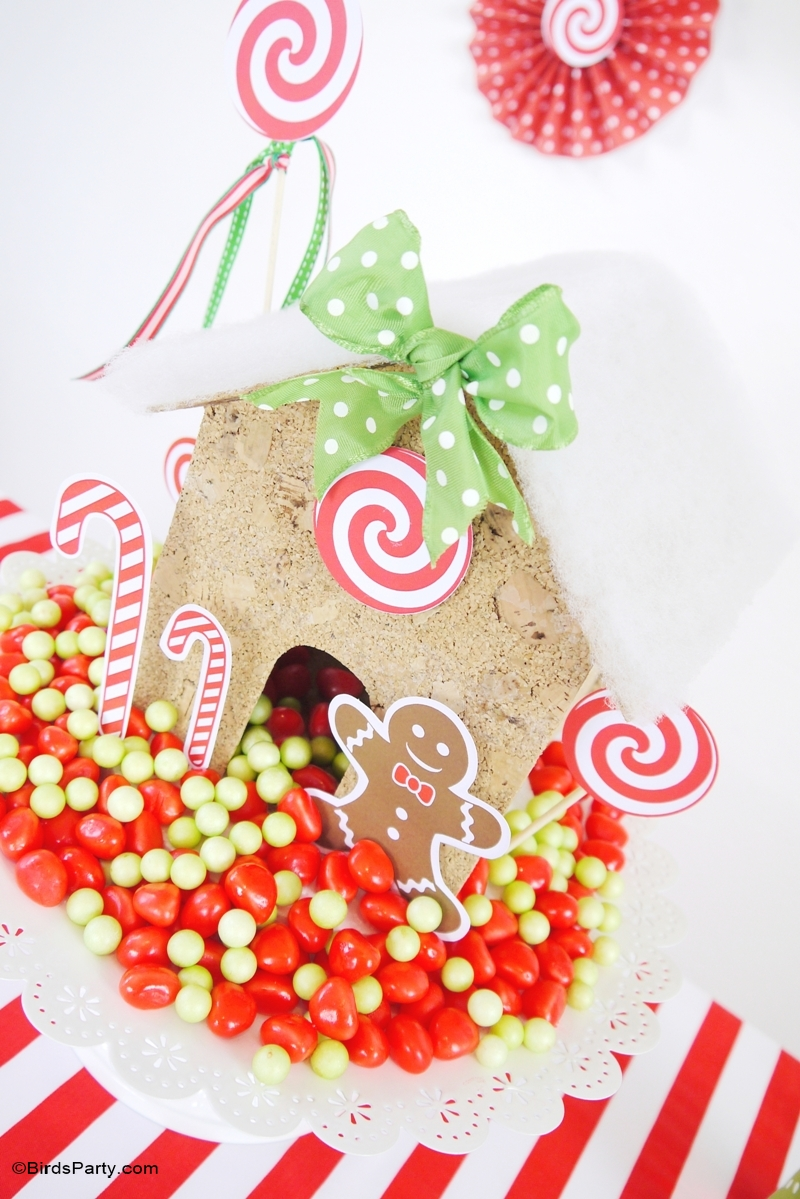 Kids Holiday Table - DIY Candyland Christmas Tablescape
