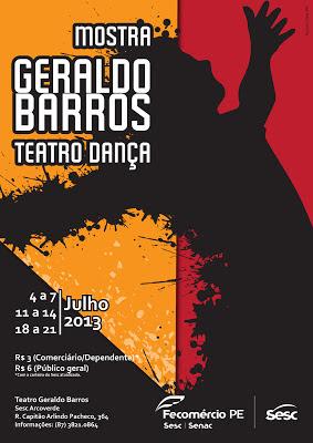SESC ARCOVERDE REALIZA I MOSTRA GERALDO BARROS DE TEATRO E  DANÇA