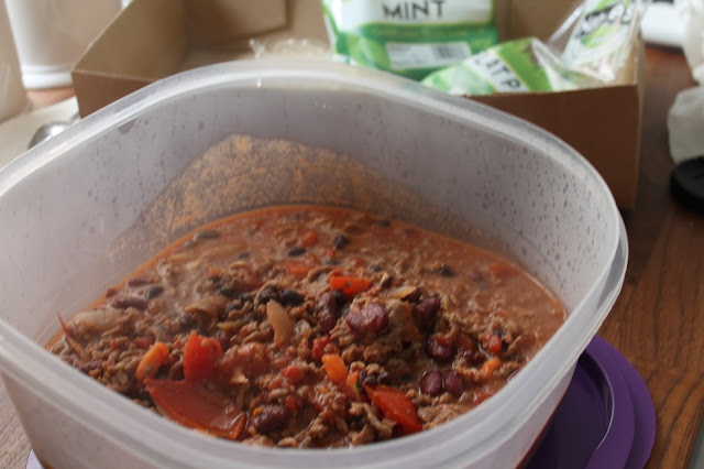 beef chilli in tupperware