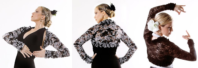 Bolero BLE008 Black and White Lace or Solid Black Lace with ruffles - US$36.00