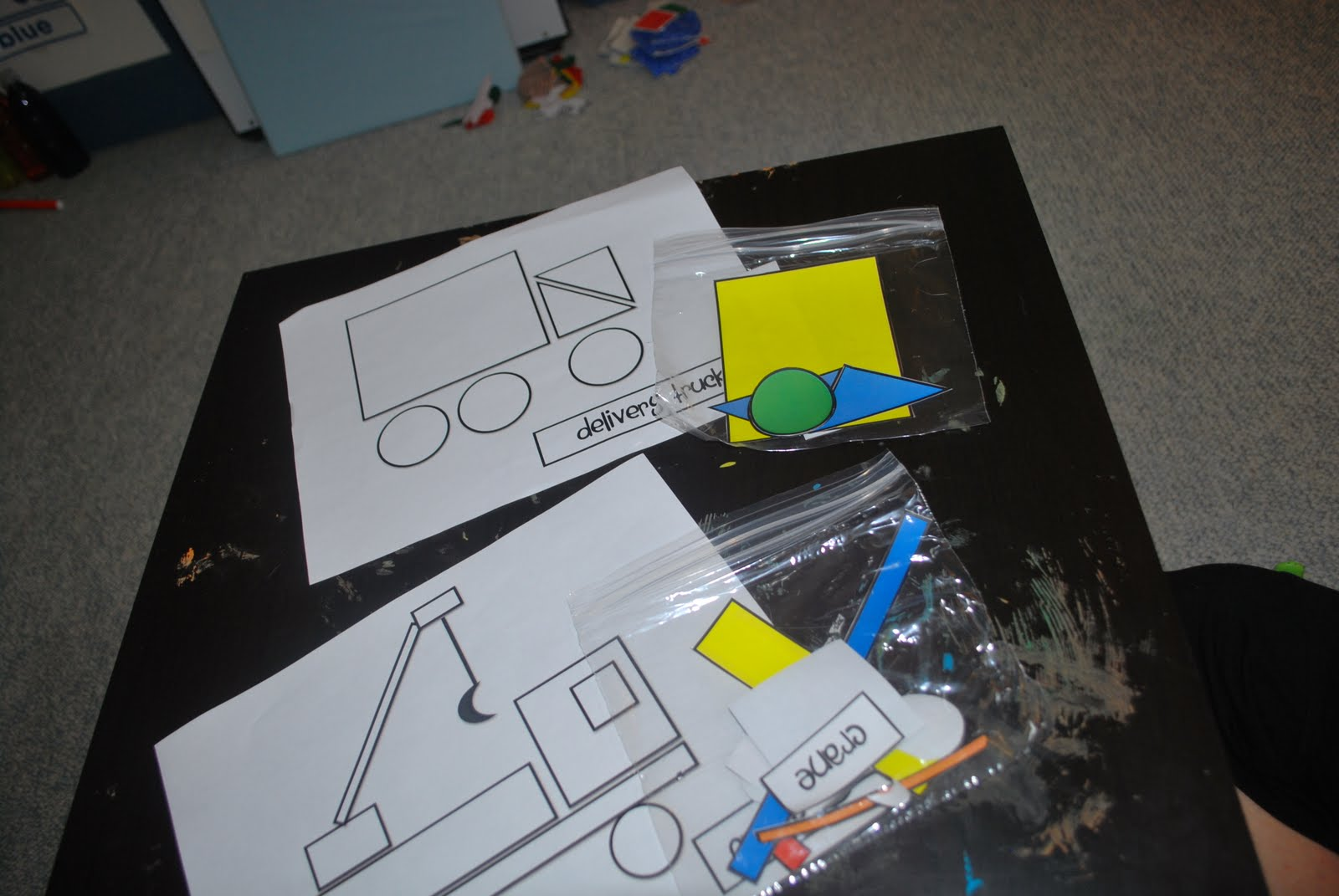 structured play pattern puzzles truck shapes