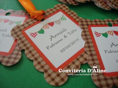 Tags Personalizados Festa Junina
