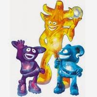 Logo y mascota del Mundial Corea-Japón 2002: Los Spheriks: Ato, Kaz y Nik