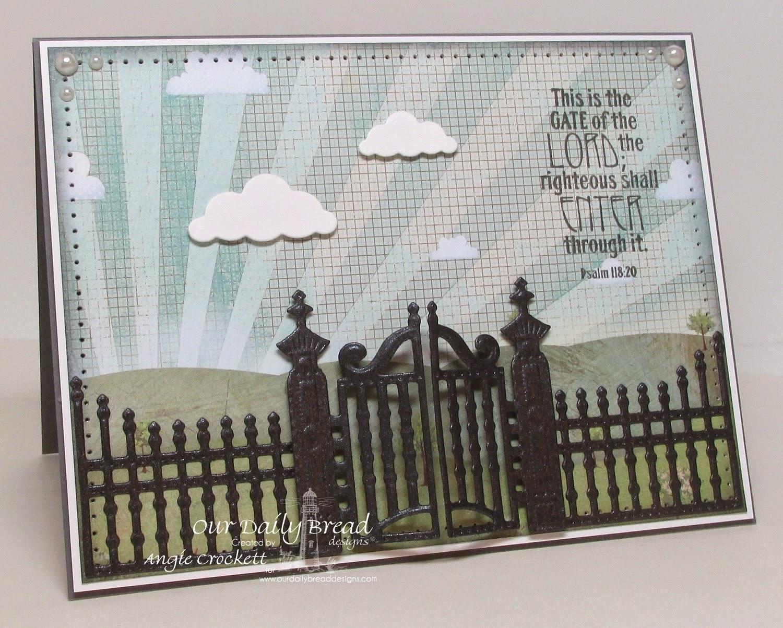 ODBD The Gate, ODBD Custom Gilded Gate Dies, Card Designer Angie Crockett