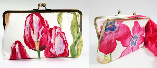 Tulip clutch bag