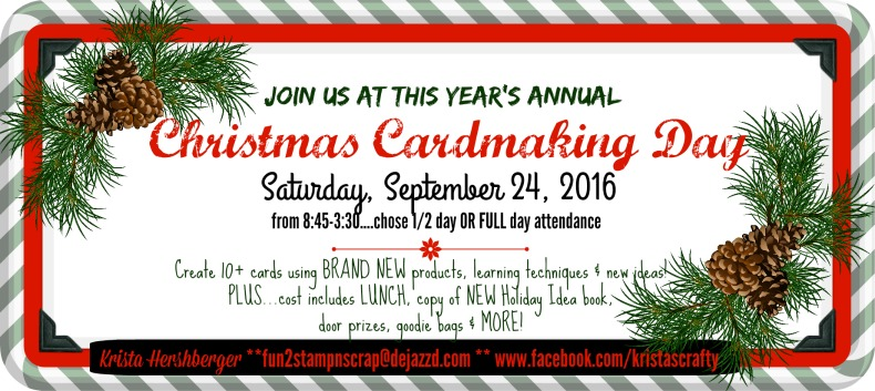 Join us at THIS year's Christmas Cardmaking Day!