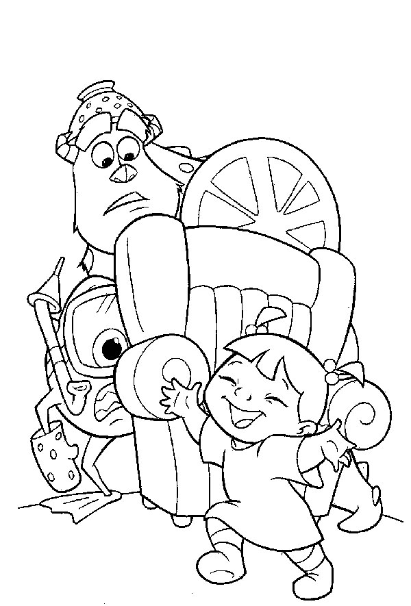 monsters inc coloring pages preschool - photo#22