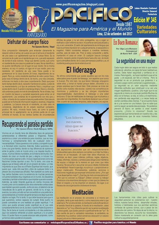 Revista Pacífico Nº 345 Variedades Culturales