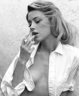 amber heard smoking