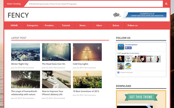 Fency Responsive Blogger Template