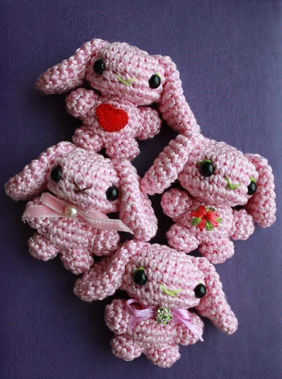 Happyamigurumi Amigurumi Bunny Brooch Pattern And A Free Gift Bag