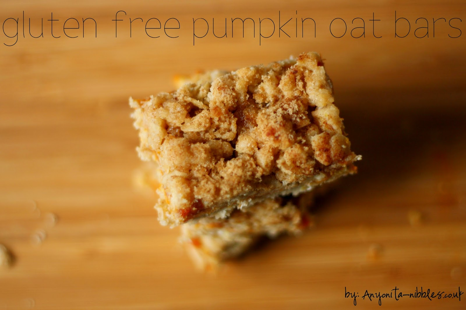 Thanksgiving takeaway dessert: Gluten Free Pumpkin Oat Bars from Anyonita-nibbles.co.uk