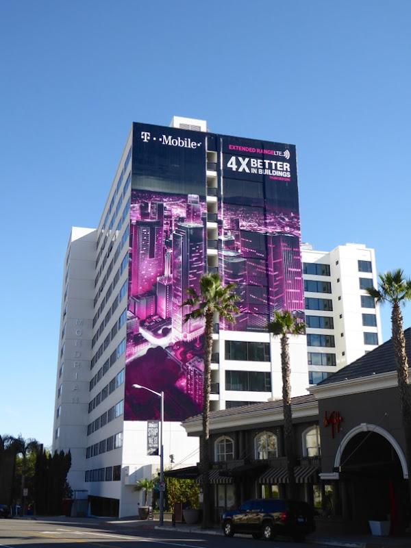Giant TMobile 4 x better in buildings billboard
