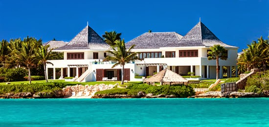 Magnificent beachfront luxury home for sale overlooking Little Harbour Bay, Anguilla