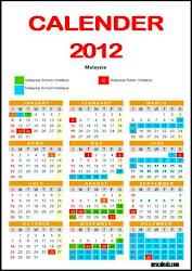 KALENDAR PERSEKOLAHAN : 2012