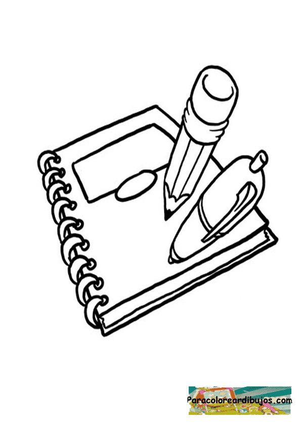 Dibujo de libreta para colorear