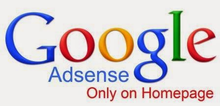 Google Adsense Only On HOmepage