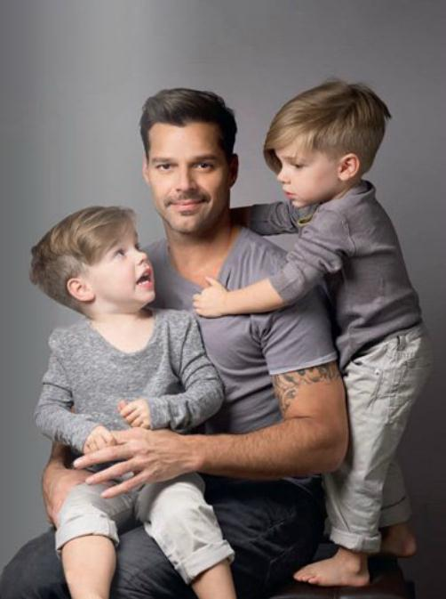 Amusing Ricky martin twin sons